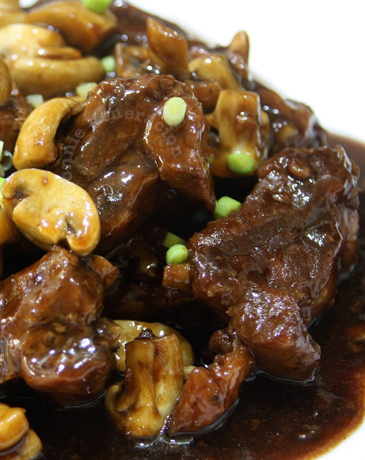 Baby back ribs and mushrooms a la teriyaki