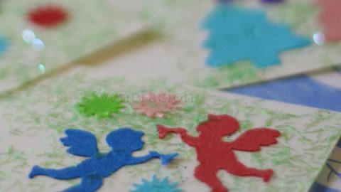 Spend bonding time with your kids making DIY handmade gift tags using design punchers, glitters, paste and colored cardboards. It's incredibly fun!
