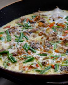 Potato and mackerel frittata