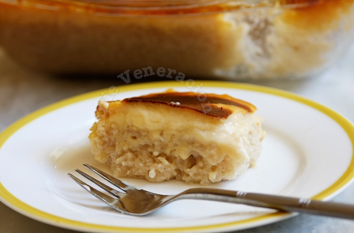 Rice Pudding With Coconut Custard Topping