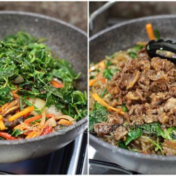 How To Cook Japchae (Jabchae, Chapchae or Chapchee), a Korean Noodle Dish