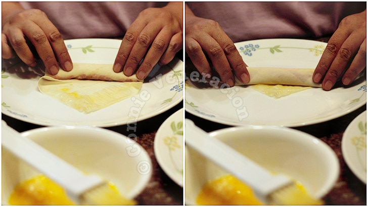 How to wrap spring rolls