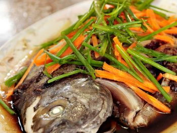 Steamed whole fish with black bean sauce