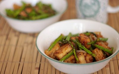 Easy tofu and asparagus stir fry