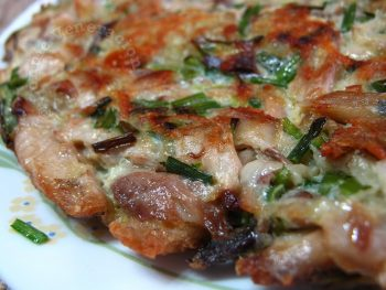 Fish and Chinese chives frittata
