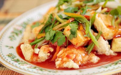 Sweet chili fish and tofu