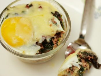Baked Breakfast Sausage and Egg