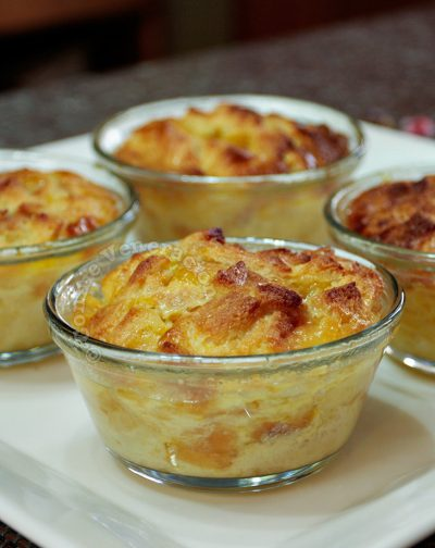 Sweet Bread Pudding With Mango Jam