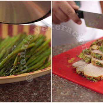 Herb-crusted Roast Pork Loin With Baby Asparagus