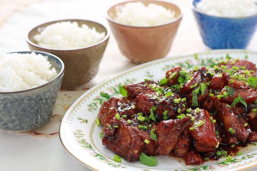 Braised pork spare ribs with black bean and garlic sauce | casaveneracion.com