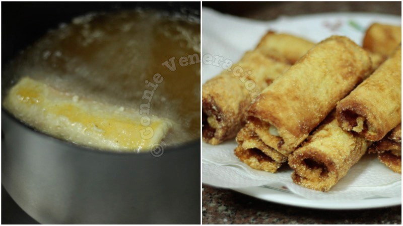 Fried Cheese and Sausage Bread Rolls