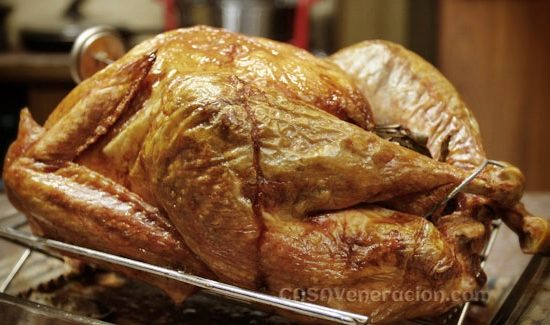Lemongrass and pandan stuffed roast turkey