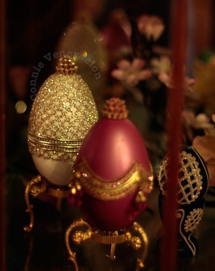Faberge eggs from the collection of Sam Butcher