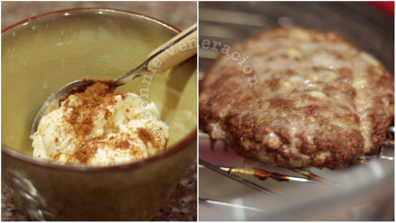 Burgers with ginger and five spice powder
