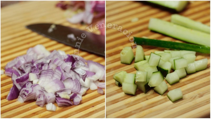 Cucumber and pepper relish