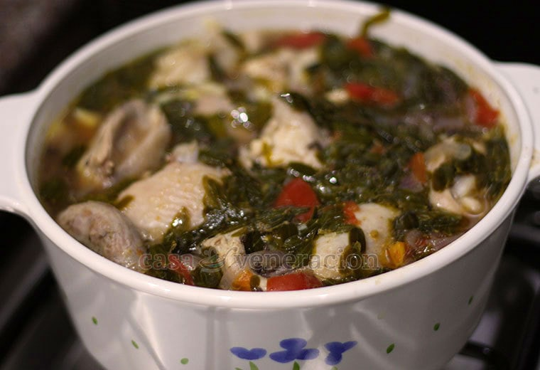 Sinampalukang manok (sour soup with chicken and tamarind leaves)