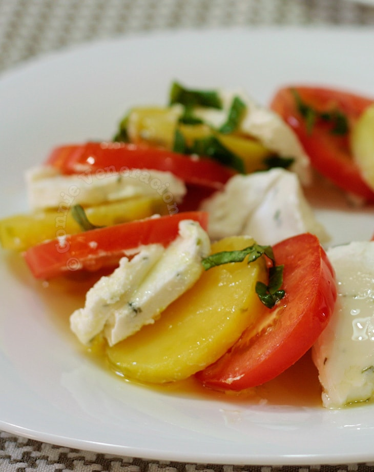 Caprese-style Salad With Goat Cheese