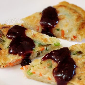 Korean scallion pancake (pajeon, p'ajon or pa jun)