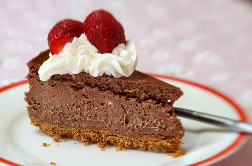 Chocolate cheesecake | casaveneracion.com