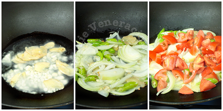 Mixed vegetables with coconut cream