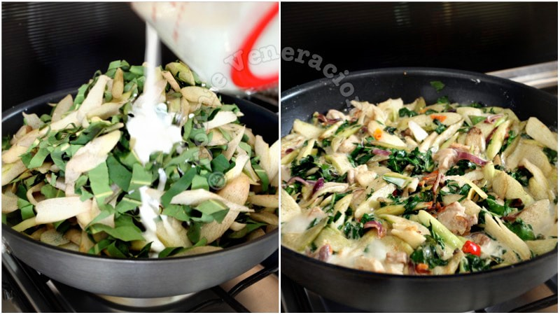 Filipino Laing (Spicy Taro Leaves and Coconut Milk Stew)