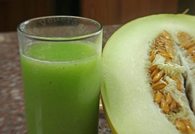 Honeydew and mint cooler