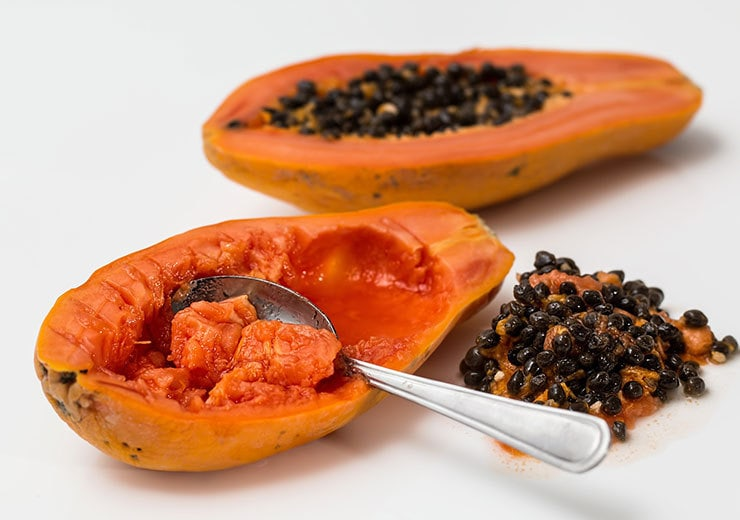 Papaya, pineapple, mango and kiwi contain enzymes that tenderize meat.