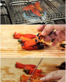 How to roast and skin chili and bell peppers