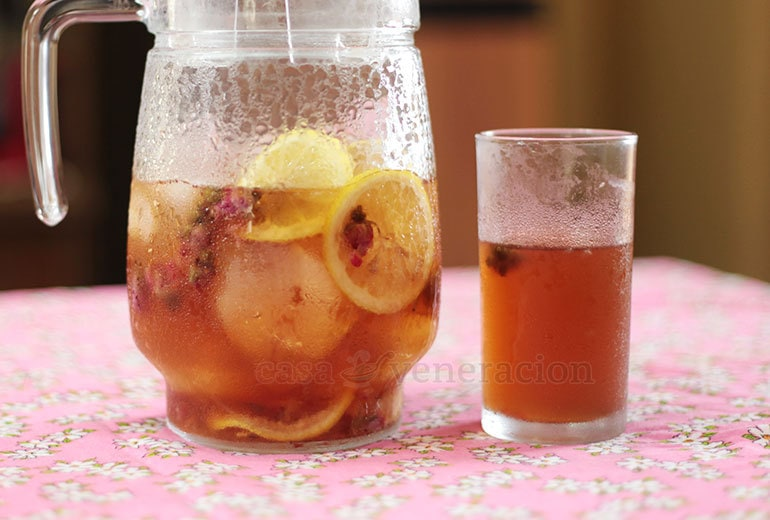 """An infusion made with dried flower buds, rose bud iced """"tea"""" is a delightful tisane with an unmistakable floral scent and flavor."""