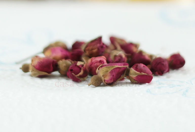 Dried rose buds made a wonderful summer drink!