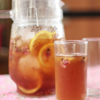 """An infusion made with dried flower buds, rose iced """"tea"""" is a delightful tisane with an unmistakable floral scent and flavor. Perfect for hot summer days!"""