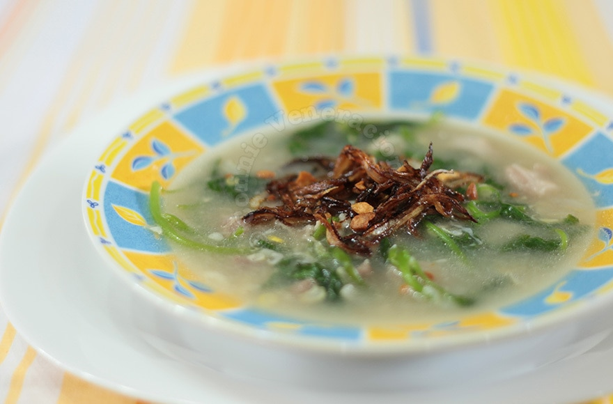 White corn and spinach soup | casaveneracion.com