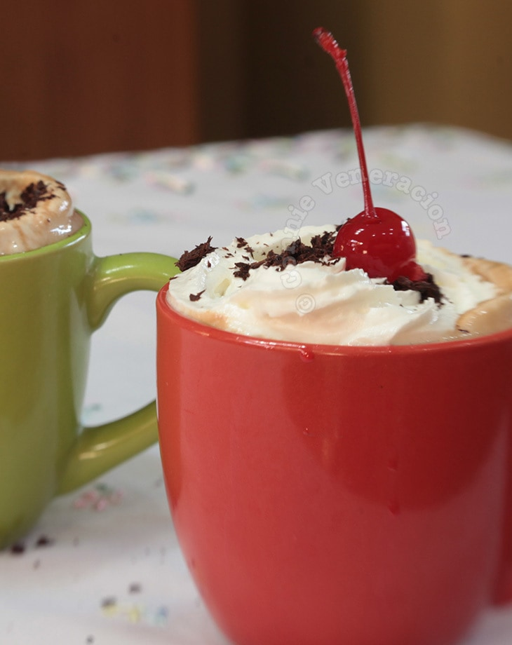 Black Forest coffee with cherry brandy