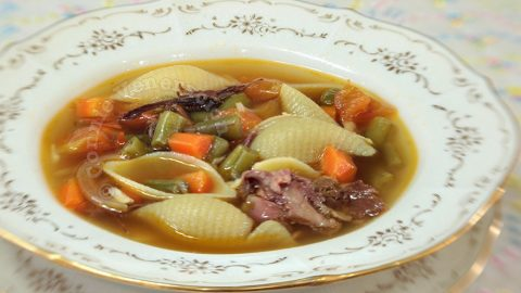 Ham and Pasta Soup