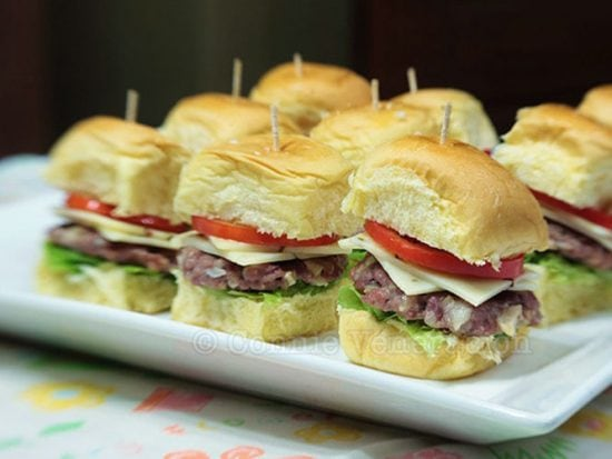 Finger Food: Mini-burgers