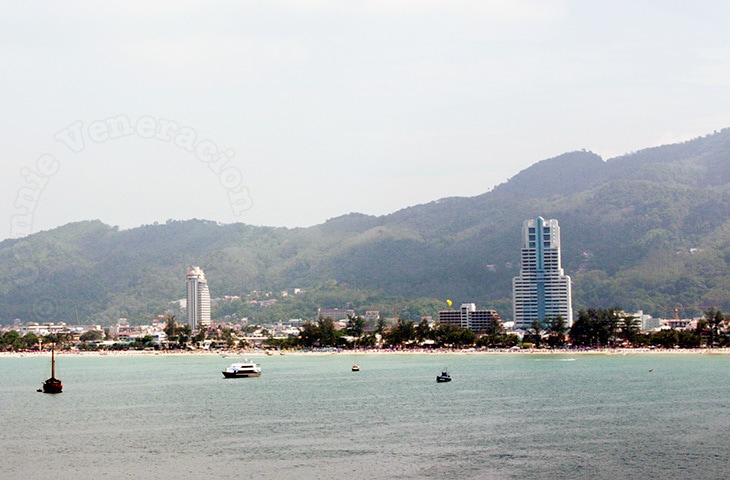 View of Phuket from cruise ship