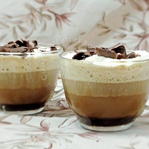 Chocolate and amaretto coffee