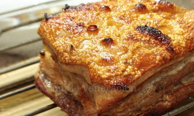 Roast pork belly (lechon kawali) with no deep frying