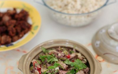 Chili beef with coconut cream