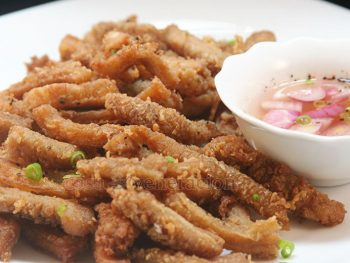 Deep-fried crispy honeycomb tripe