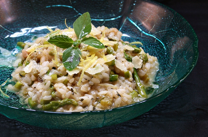 Asparagus, mint and lemon risotto recipe