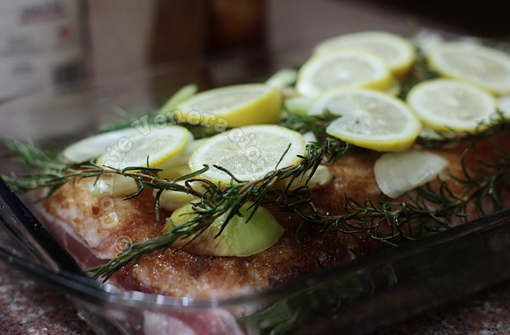 Rosemary and lemon pork ribs