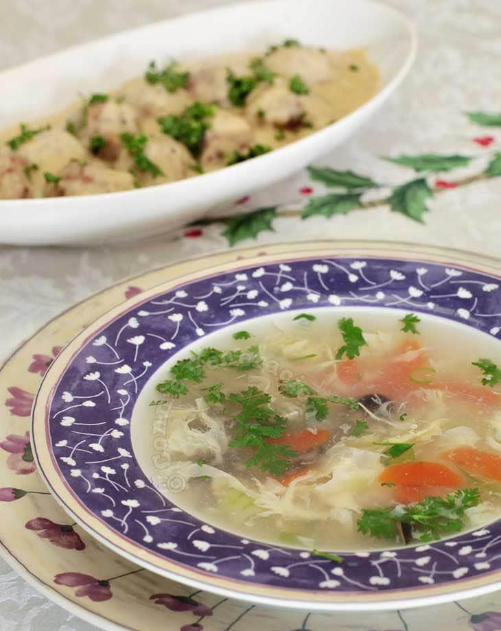 Fish and coriander soup