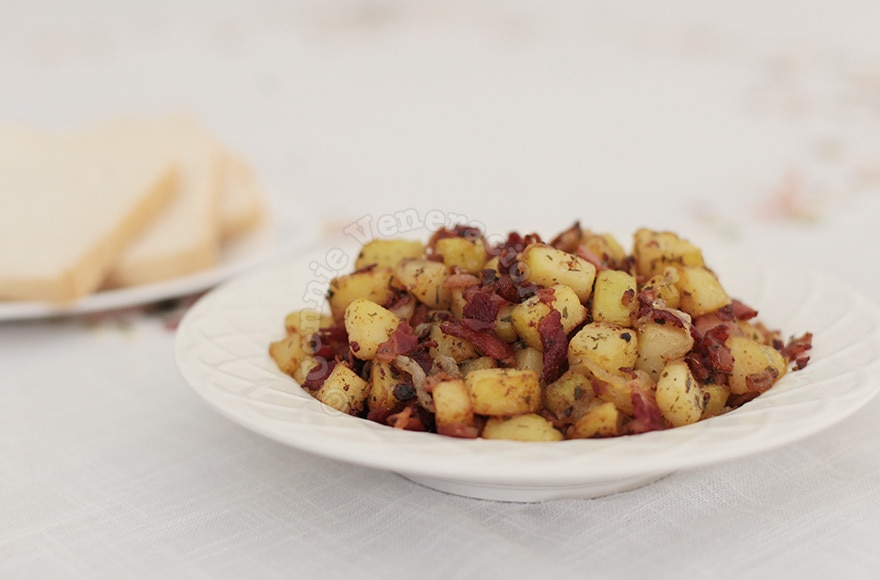 Potato and bacon for brunch | casaveneracion.com
