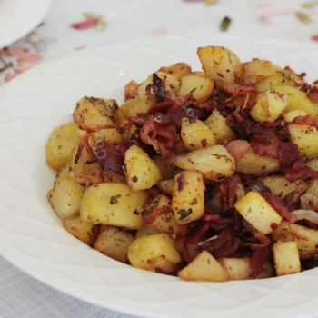 Potato and bacon for brunch