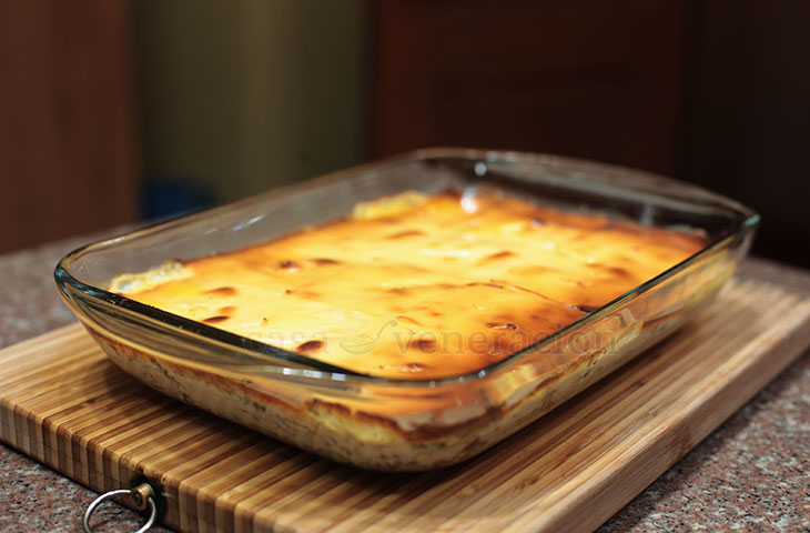 Holiday leftovers: Turkey, Duck and Potato Bake, Step 10: Bake at 375F