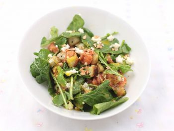 Herbed croutons make a lovely addition to soups and salads. See how to make them at home!