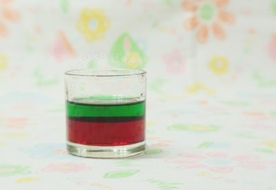 Layered drinks and specific gravity