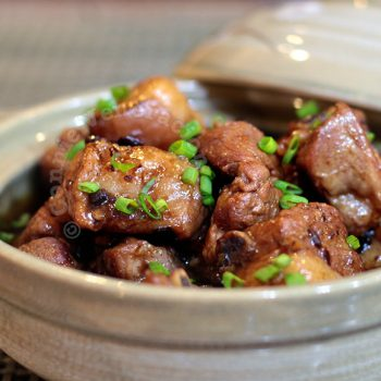 Pork stew with spicy black beans and garlic sauce