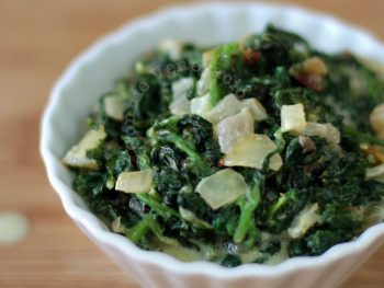 Creamed spinach can be used as the vegetable component of a meat sandwich, as a side dish or turn it into a bed on which lay down roasted duck breast.